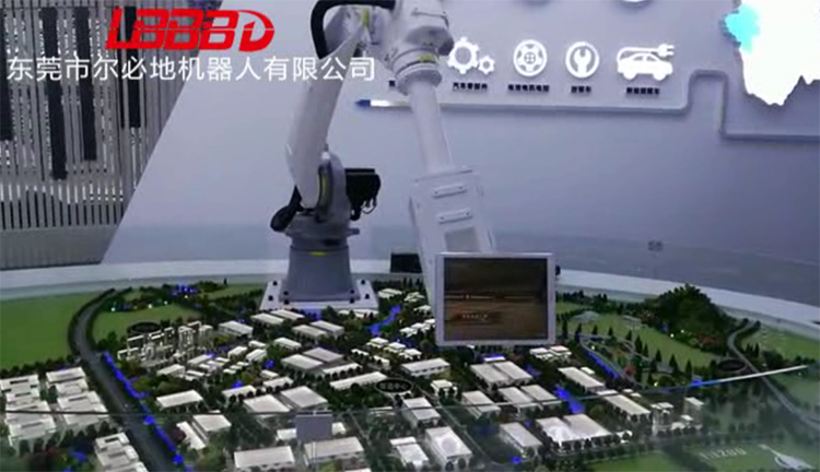 房地产楼房展厅机器人自动展示案例