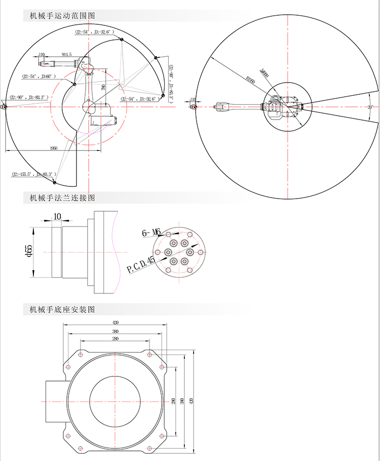 门拉手静电喷涂机器人(图2)